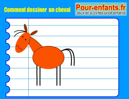 Pour enfants 2017 comment dessiner un cheval apprendre - Cheval a dessiner facile ...