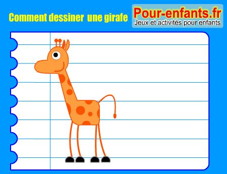 Pour Enfants 2017 Comment Dessiner Une Girafe Apprendre à