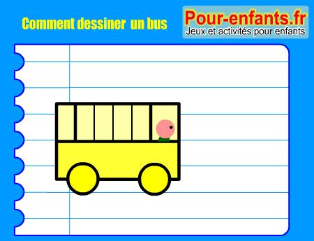 Comment dessiner un bus - Comment dessiner un enfant ...