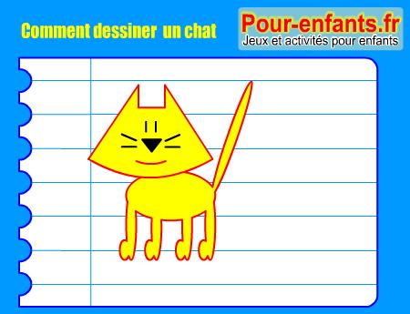 Apprendre dessiner pas pas chat dessin chats cours faciles par tapes gratuits maternelle - Comment dessiner un bebe chat ...