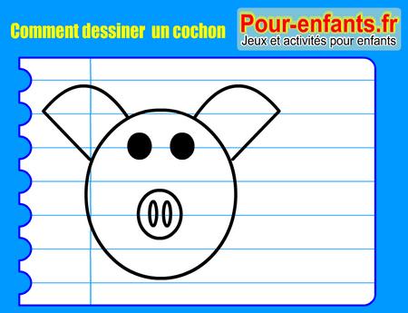 Apprendre dessiner pas pas cochon dessin cochons cours faciles par tapes gratuits - Cochon a dessiner ...
