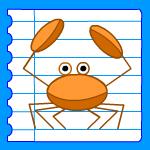 Comment dessiner ours tortue tigre crocodile grenouille - Dessiner un crabe ...