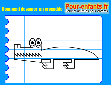Comment dessiner crocodile pas pas dessins crocodiles - Dessiner un crocodile ...