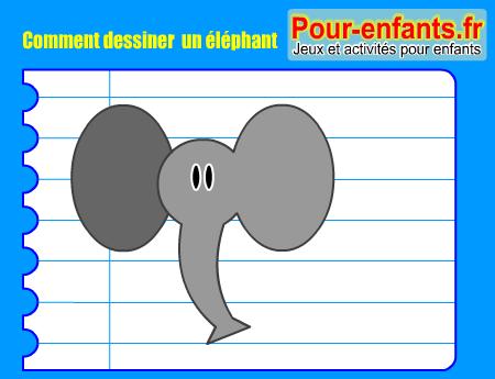 Apprendre dessiner pas pas l phant dessin elephants - Comment dessiner un elephant facilement ...