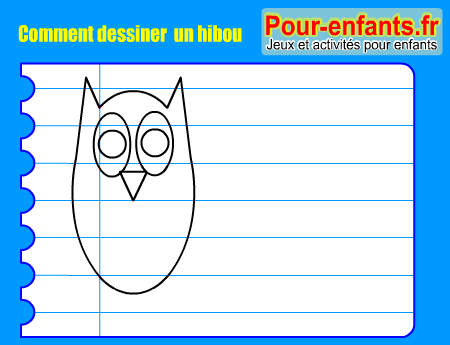 comment dessiner un hibou. Black Bedroom Furniture Sets. Home Design Ideas