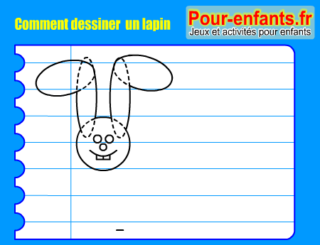 apprendre dessiner pas pas lapin dessin lapins cours faciles par tapes gratuits maternelle. Black Bedroom Furniture Sets. Home Design Ideas