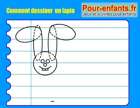 Apprendre dessiner pas pas lapin dessin lapins cours faciles par tapes gratuits maternelle - Comment dessiner un enfant ...