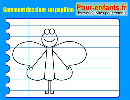 Apprendre dessiner pas pas papillon dessin amusant papillons cours faciles par tapes - Comment dessiner un papillon ...