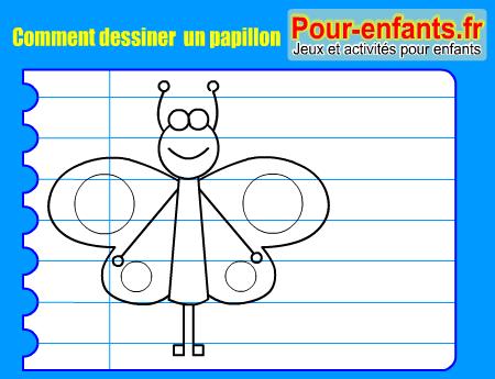Apprendre dessiner pas pas papillon dessin amusant - Dessiner un papillon ...