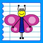 Dessin papillon rigolo - Papillon facile a dessiner ...