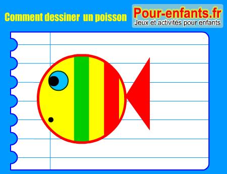 Apprendre dessiner poisson dessin pas pas poissons cours faciles par tapes gratuits - Dessiner un poisson facilement ...