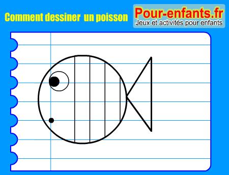 Apprendre à dessiner un poisson. Comment dessiner un poisson par étapes.