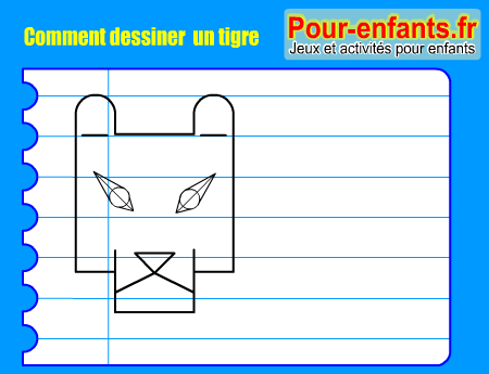 Comment dessiner tigre pas pas dessins tigres cours faciles par tapes gratuits maternelle - Comment dessiner un tigre ...