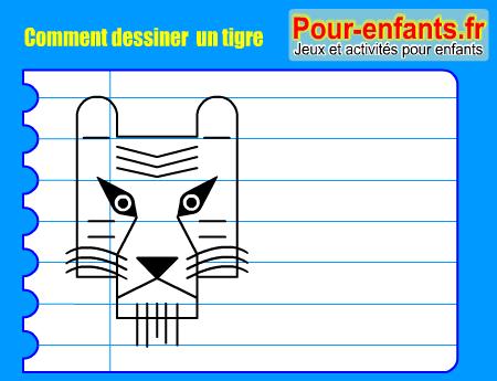 Comment dessiner tigre pas pas dessins tigres cours - Apprendre a dessiner un tigre ...