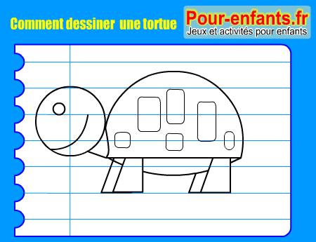 Apprendre dessiner pas pas tortue dessin tortue cours - Comment dessiner une tortue ...
